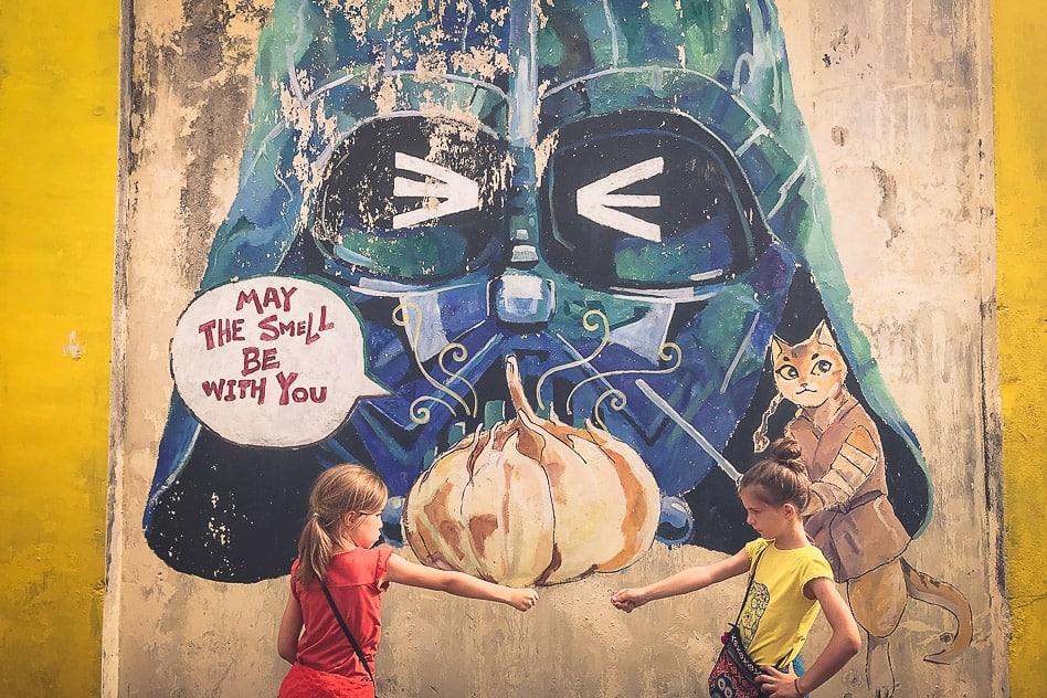 Street Art Darth Vader Ipoh Malaysia