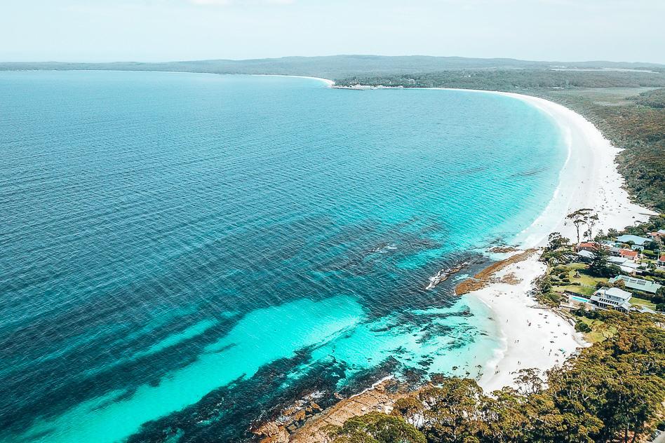 Jervis Bay Drone White Beaches Australia