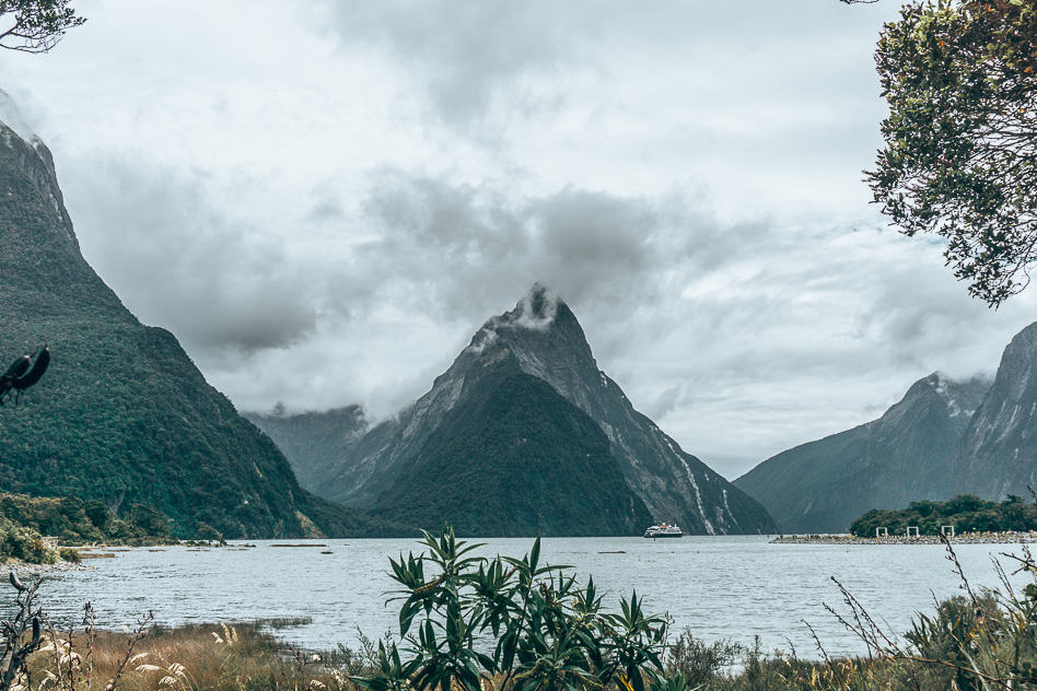 Milford Sound View Picture Famous Cloudy New Zealand