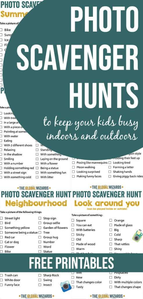 Photo Scavenger Hunt Ideas For Kids Indoor Outdoor