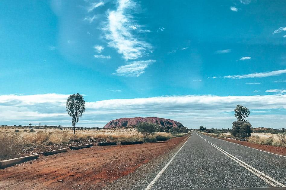 Uluru Ayers Rock Road Outback Australia