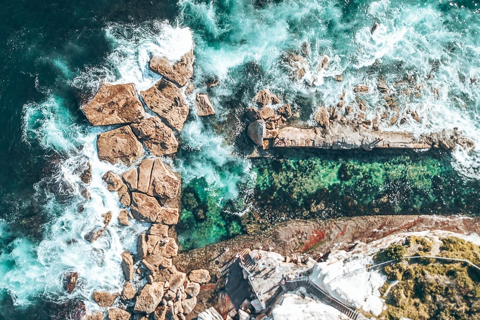 Coogee Beach Sydney Rock Pool Drone