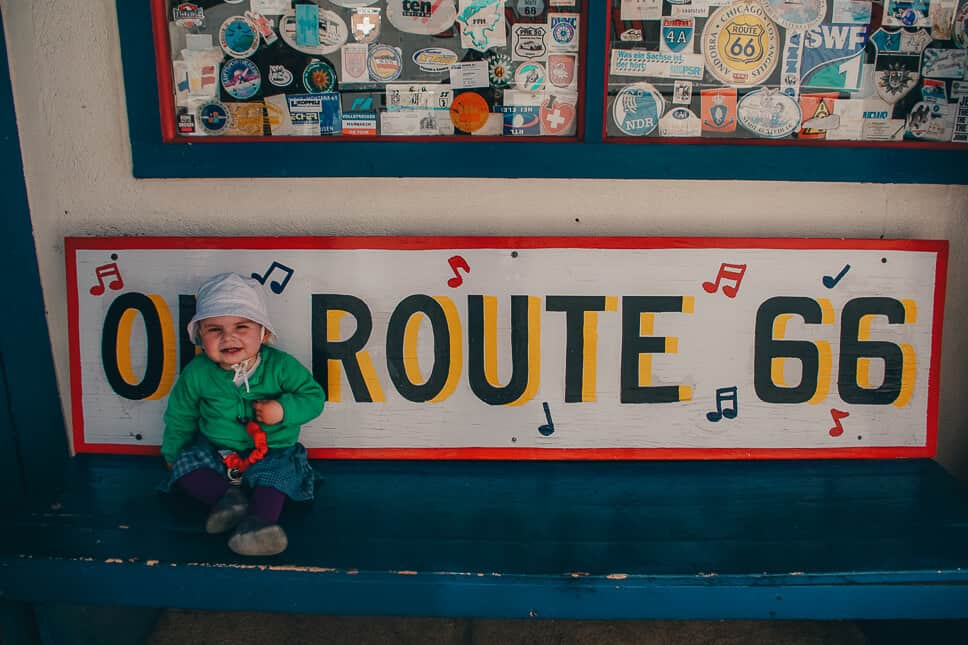 Travelling along Route 66 with kids in the US