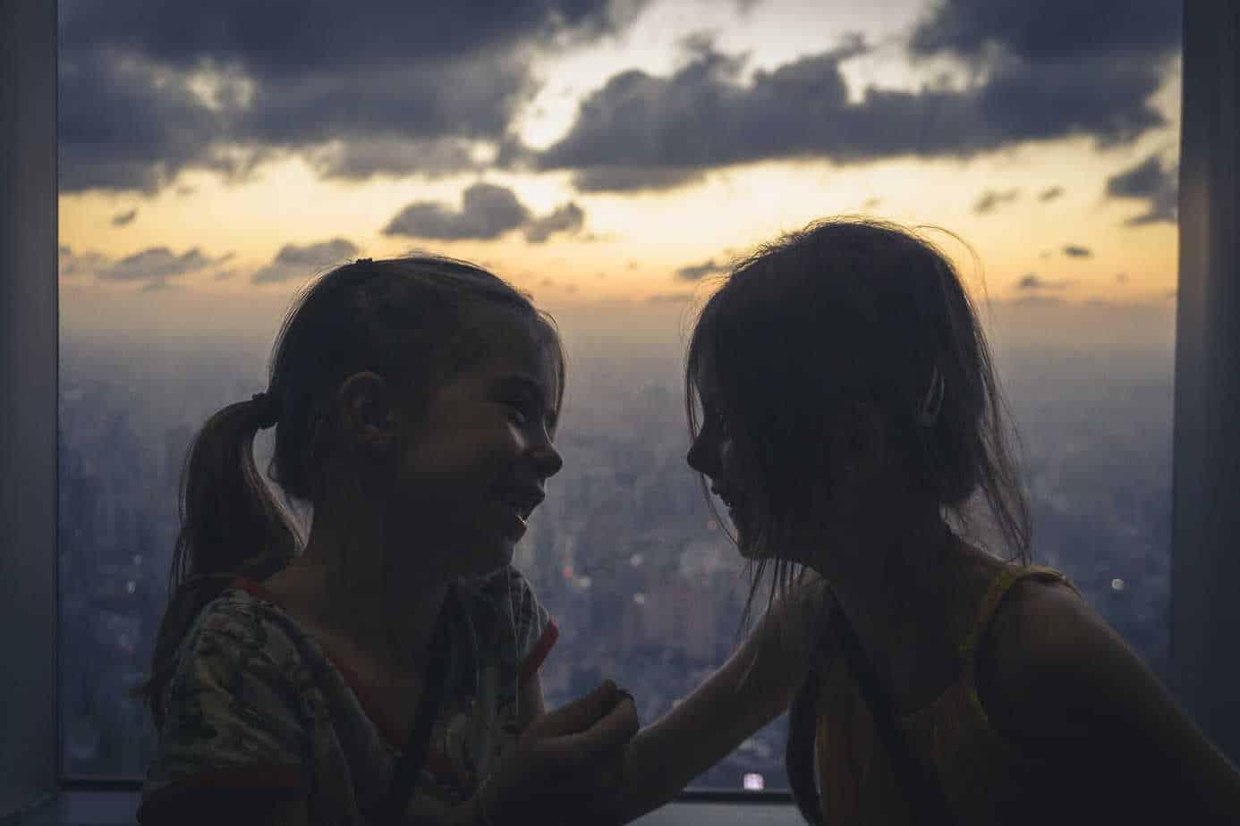 Sisterlove Shanghai Tower Sunset