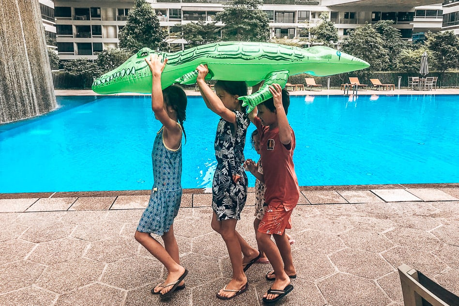 Singapore friends kids play