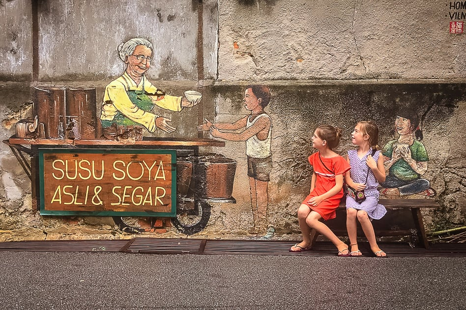 George Town Penang Malaysia Street Art Ice Cream Vendor