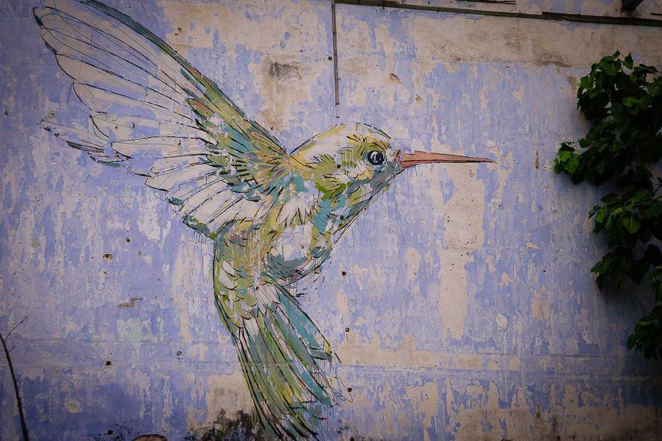Ipoh Street Art Malaysia Hummingbird Famous