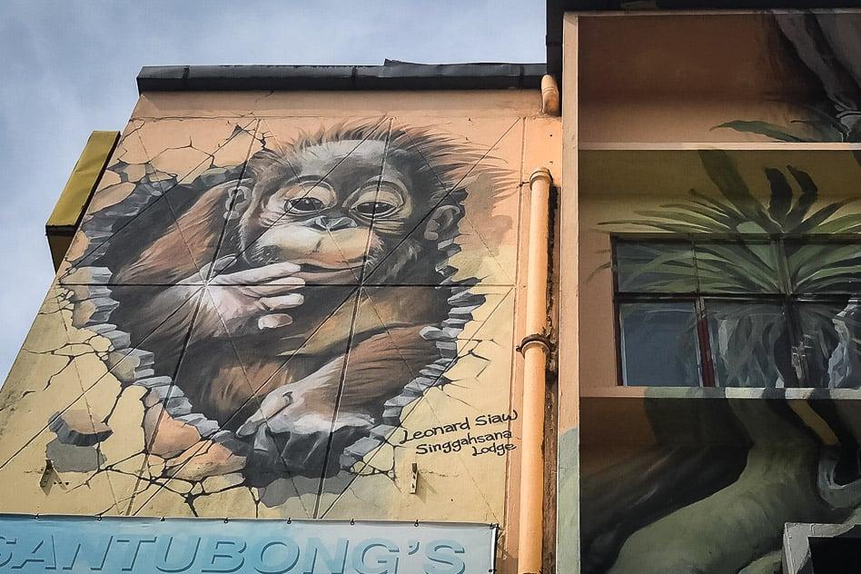 Kuching Sarawak Borneo Street Art Orang-utan Singgahsana