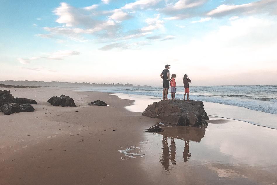Potato Point Camping Beach Sunset NSW