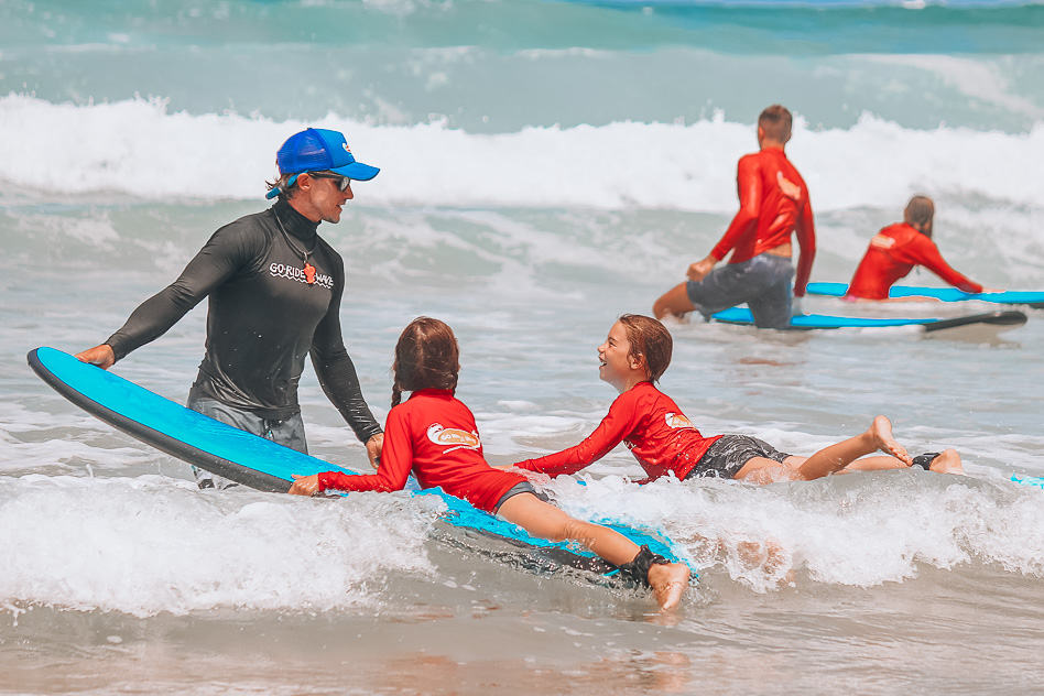 Go Ride A Wave Gold Coast Helping Kids Family Lesson