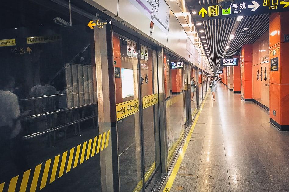 Get around low budget Shanghai Subway Metro