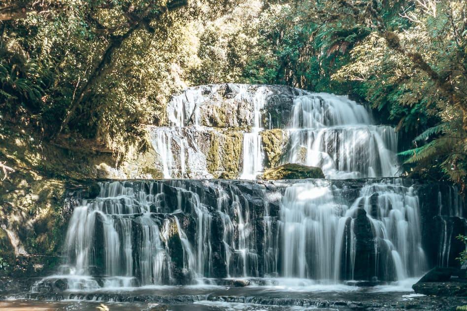 Purakaunui Waterfalls Nature Catlins Roadtrip