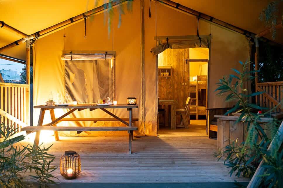 Safari Tent Glamping Experience Evening Italy Procida Island