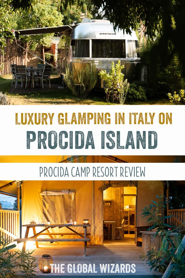 Luxury glamping italy procida camp resort review island