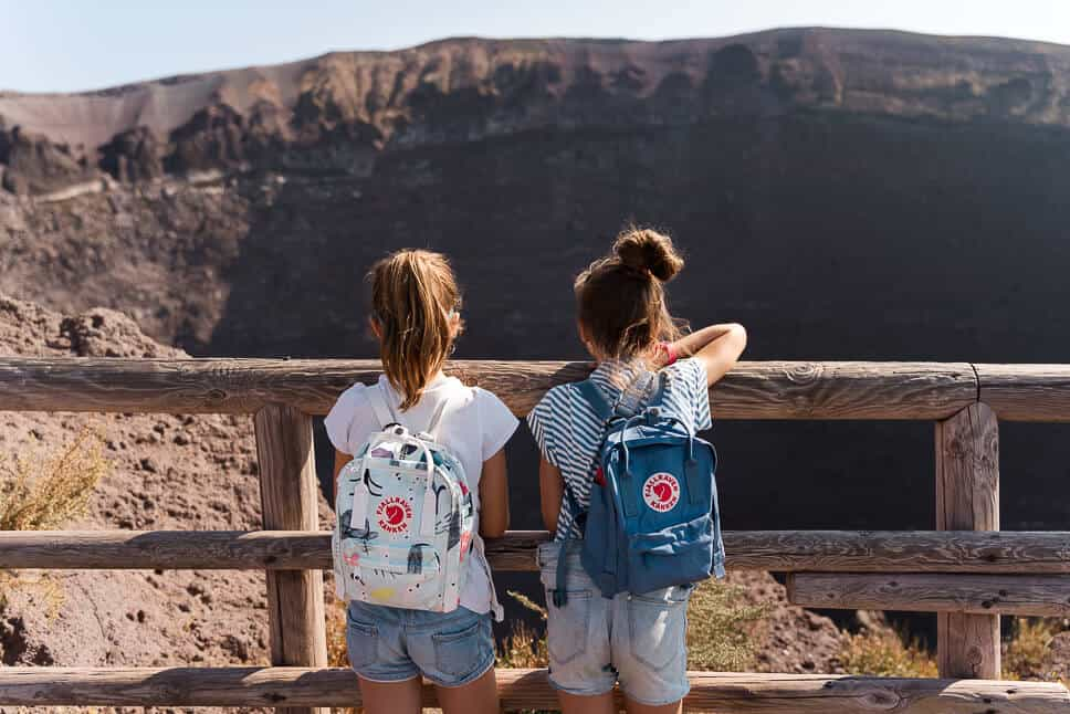 Vesuvius Vocano Crater Fjallraven Mini Backpacks Art