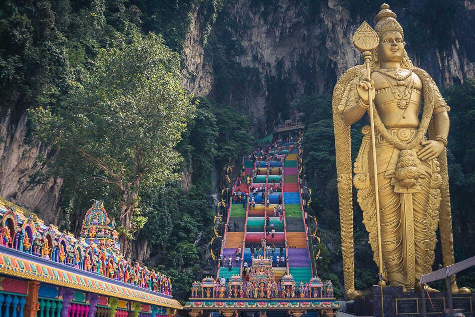 Batu Caves Stairs Hindu Kuala Lumpur