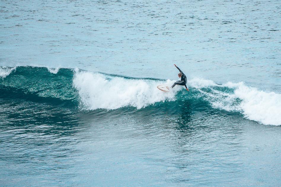 Surfing Bell's Beach Australia