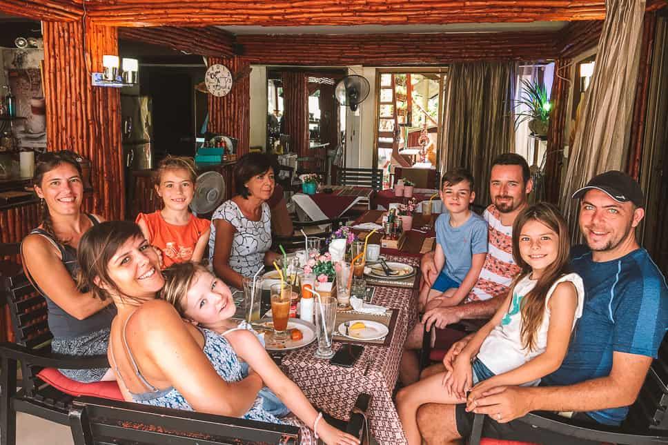 Family Eating United Full Time Travels Phuket Rawai