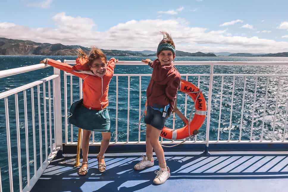 Ferry Southern Northern Island New Zealand Kids