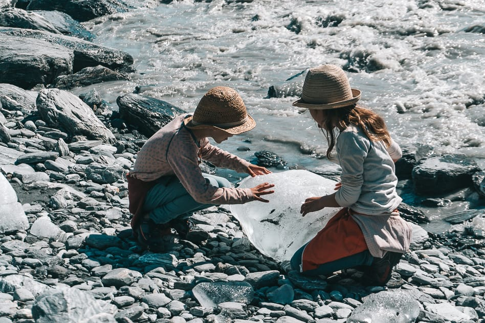 River Ice Franz Joseph Glacier New Zealand