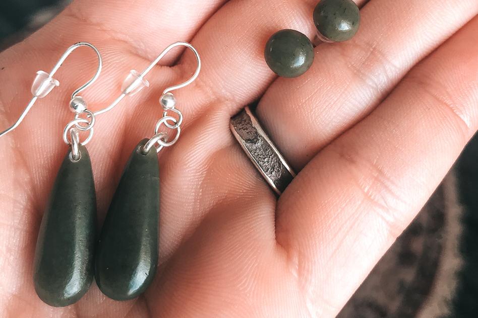 Earrings Jade DIY Carving Hokitika Family