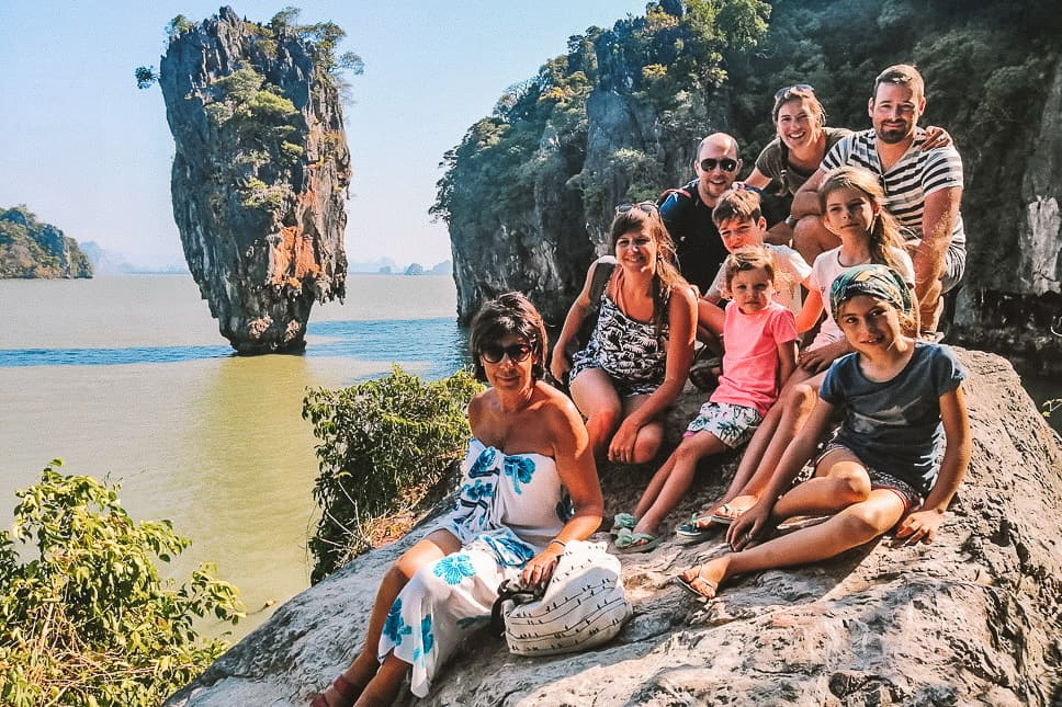 Family Picture James Bond Island Phang Nga Thailand
