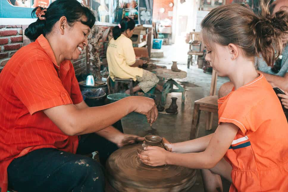 Borobudur Tour Making Pottery with kids