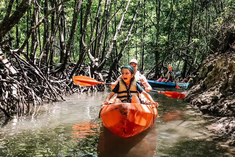 Mangroves Kayak Kids Family Thailand Adventure Family