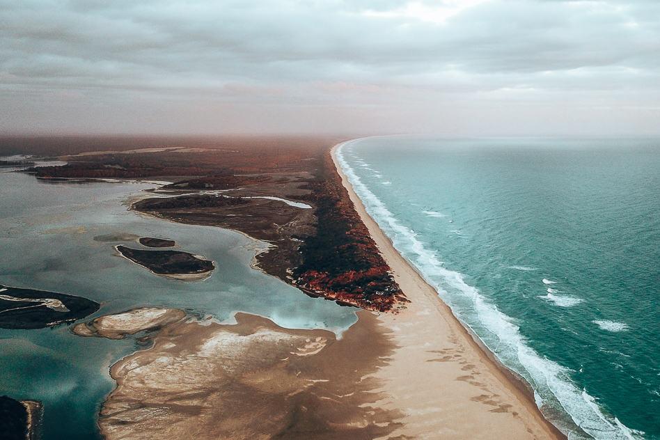 Drone Lake Tyers Sunset Victoria