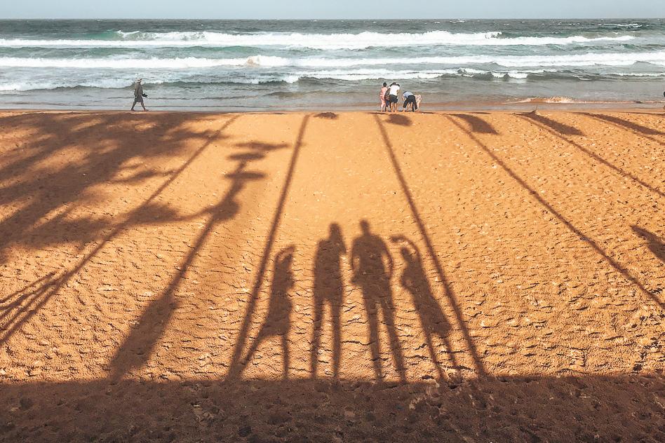 Manly Beach Sydney Sunshine Sunset Shadow Silhouette