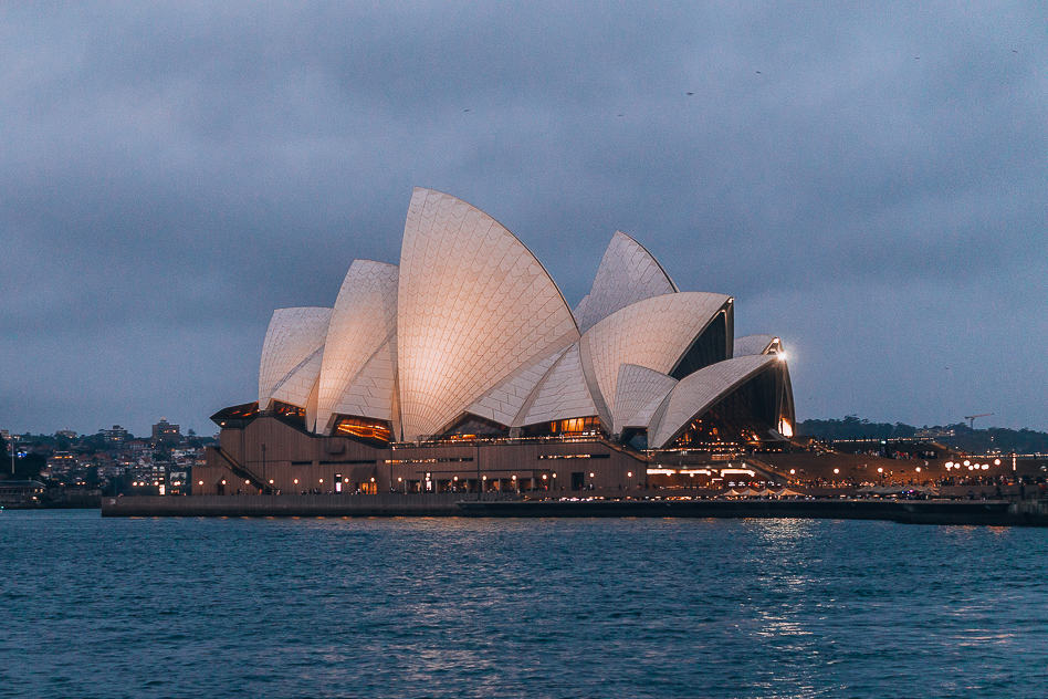 Opera House Ferry Sunset Night Golden Hour Sydney
