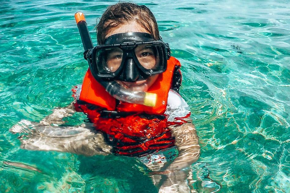 Perhentian Snorkling Malaysia Kids