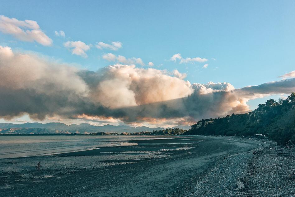 Bushfire Nelson Beach Campground New Zealand