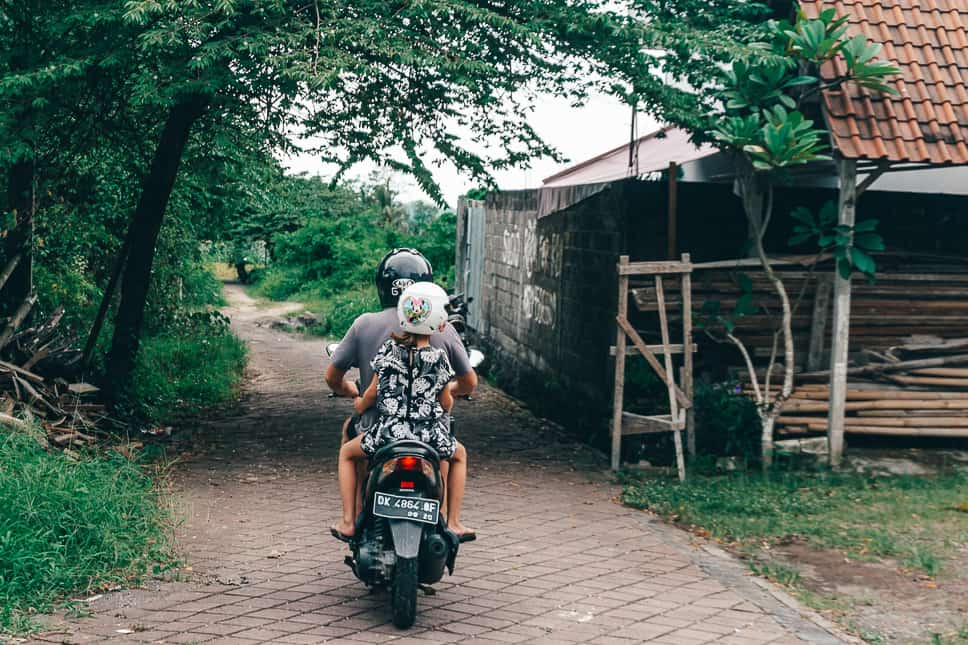 Renting Scooter Bali Kids