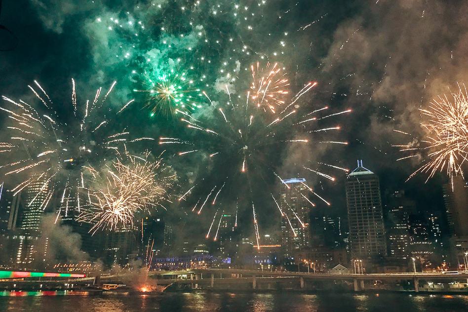 Southbank Fireworks Vuurwerk Brisbane New Years Eve