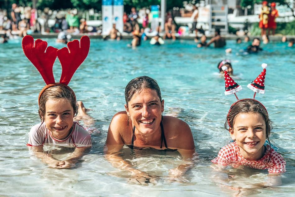 Christmas Australia Down Under Swimming Southbank Brisbane