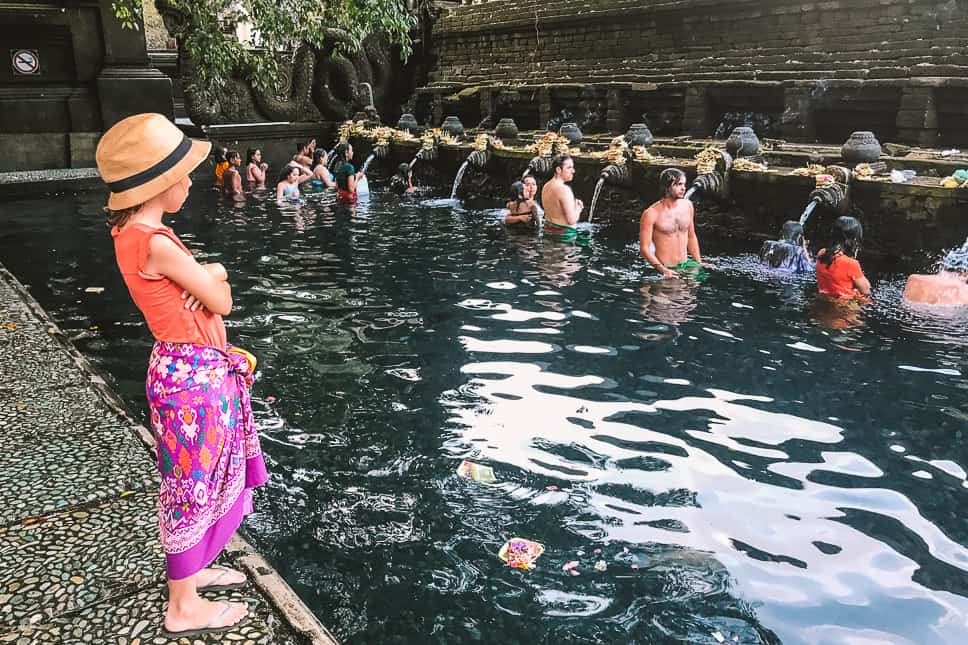Water temple Tirta Empul Bali Kids