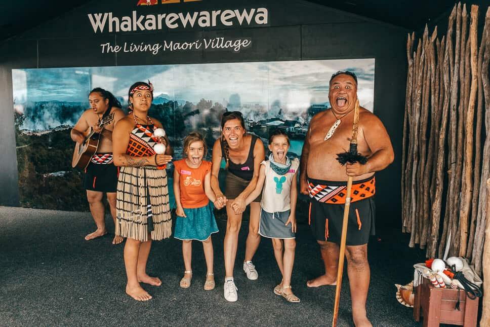 Maori Haka Village New Zealand Family Tour