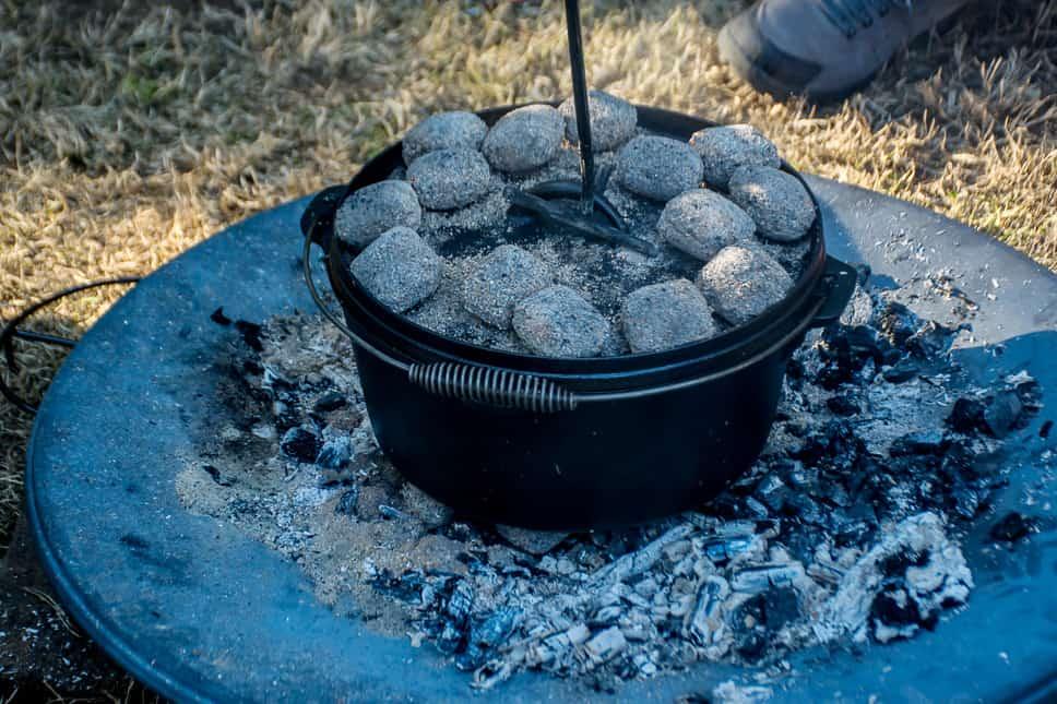 Camp Dutch Oven Hot Coals