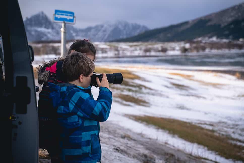 Kids Photography Tour Lofoten Norway
