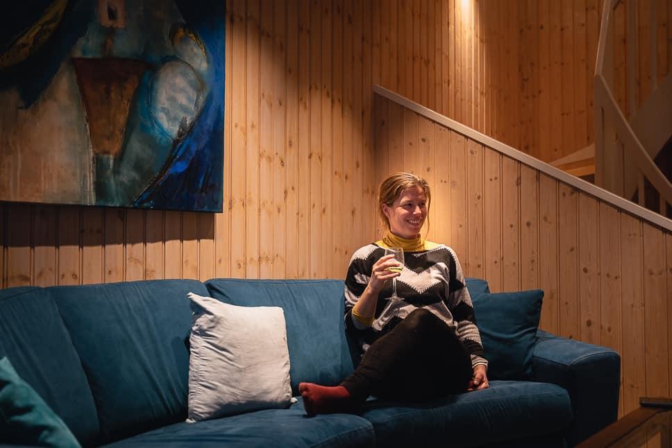 Rorbusuite living room Svinøya Rorbuer