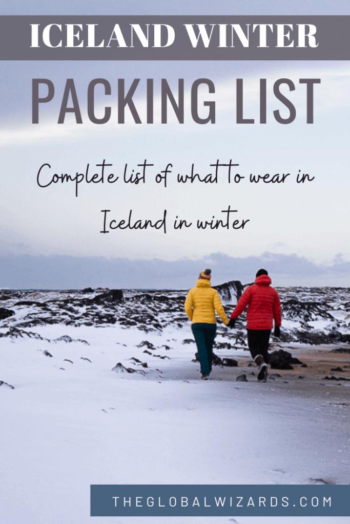 Iceland Winter Packing List October April