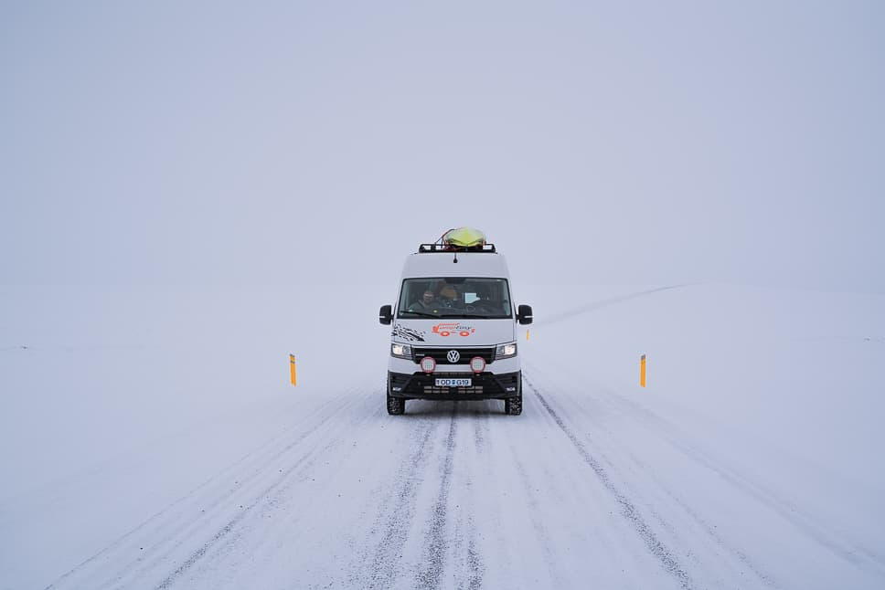 Weather in Iceland in Winter Snow Driving