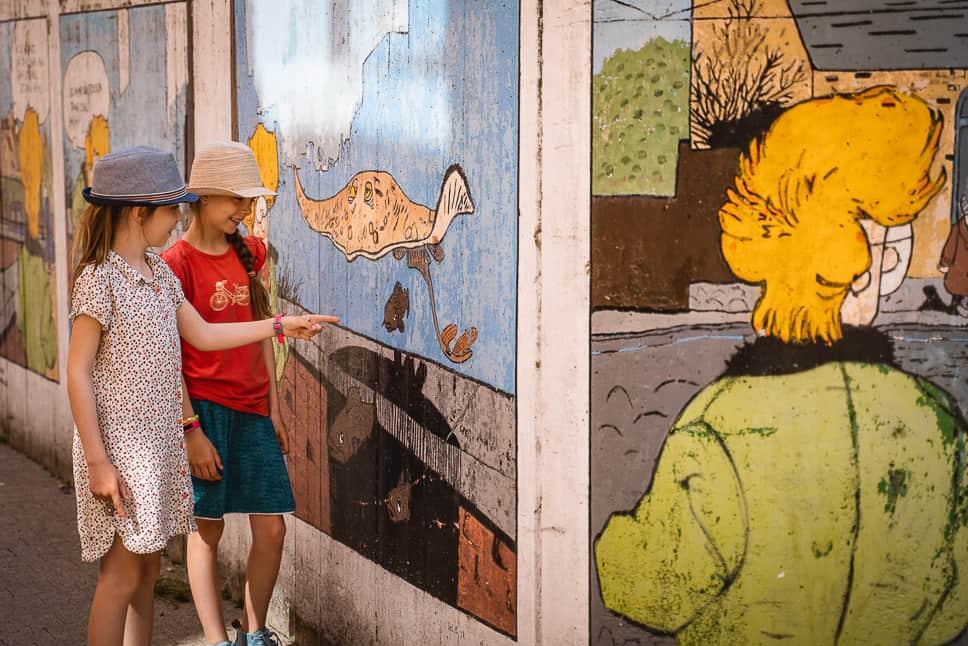 Kinderen Kosmopolite Art Tour Louvain-La-Neuve