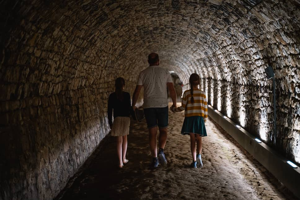 Citadel Namen Tour Gids Ondergrondse Gangen Familie