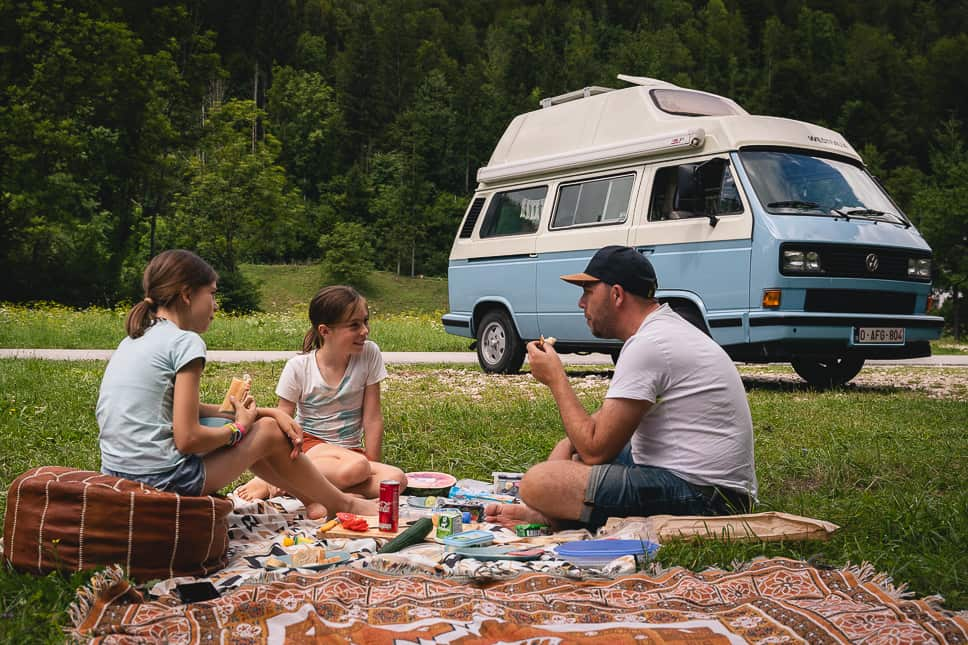 Essentials family road trip picnic
