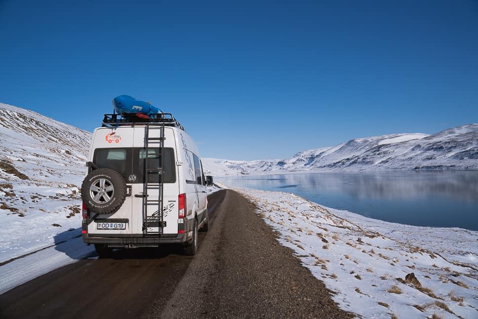 Campervan rental winter Iceland